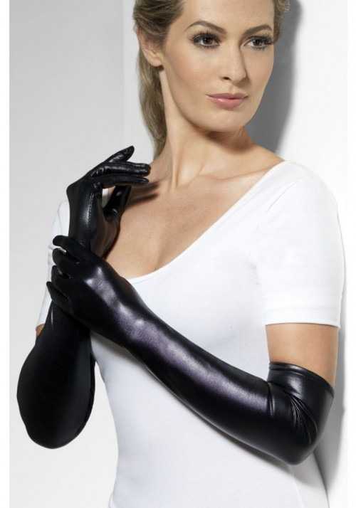 Перчатки Госпожи wet look (Fever)