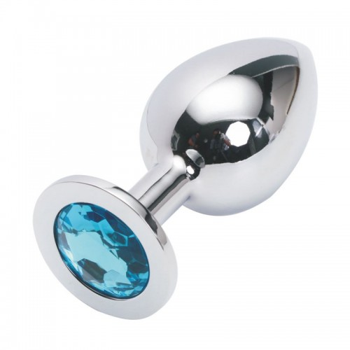 Анальная пробка Anal Plug Silver Blue L