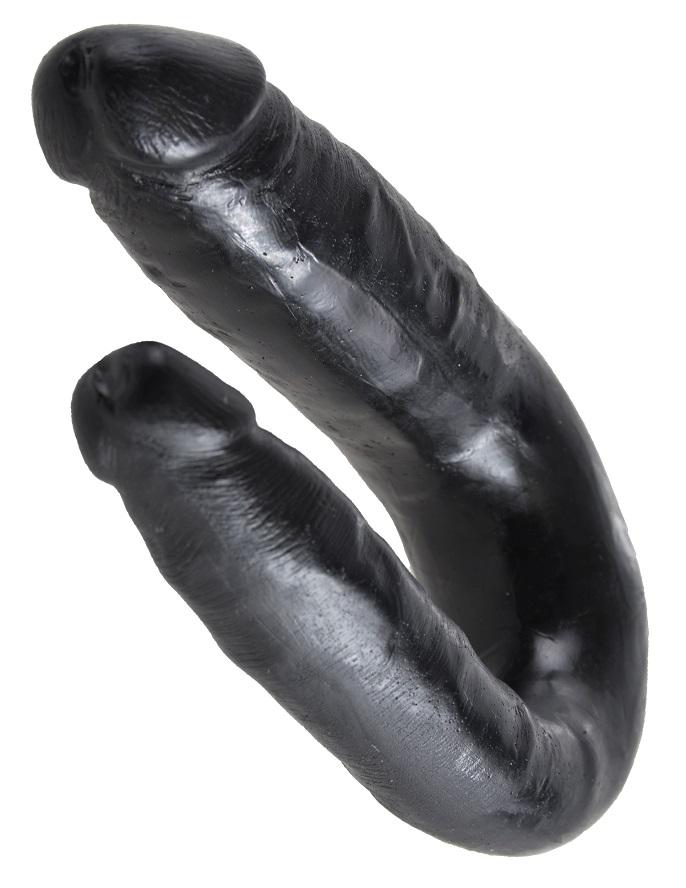 Двойной фаллоимитатор King Cock U-Shaped Small Double Trouble Black