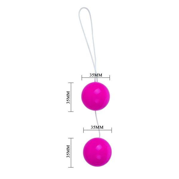 Анально-вагинальные шарики Twins Ball розовые