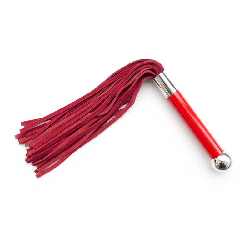 Плеть красная с металлическим шаром