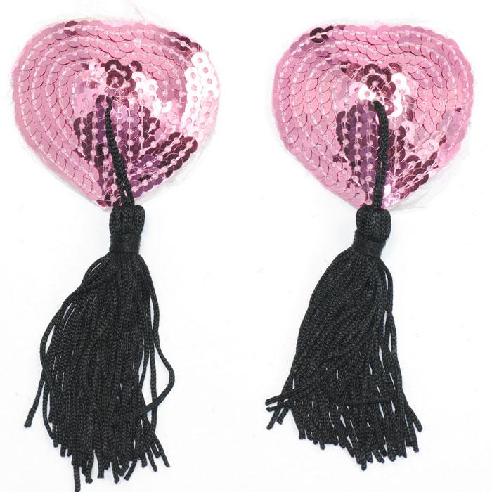 Пэстисы с розовыми паетками для груди