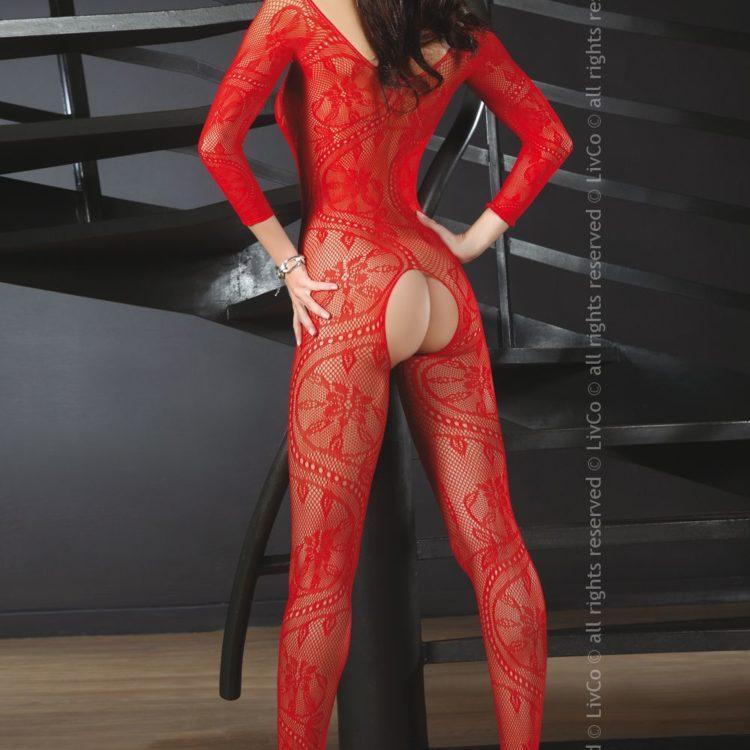 Сексуальный боди-комбинезон ABRA RED S/L