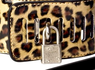 Ошейник леопардового окраса с поводком