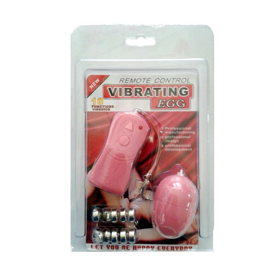 Вибро-яйцо с беспроводным управлением с 10 функциями вибрации розовое