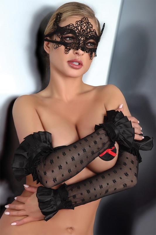 Черная кружевная маска MASK MODEL 2