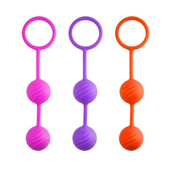 Вагинальные шарики Kegel ball пурпурные