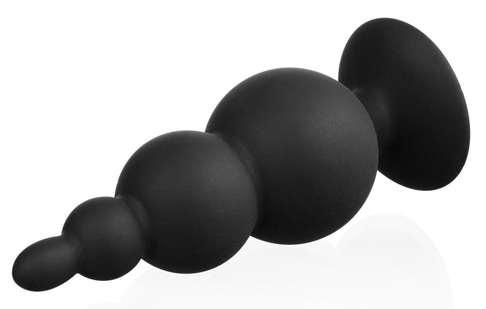 Анальная ёлочка силиконовая черная