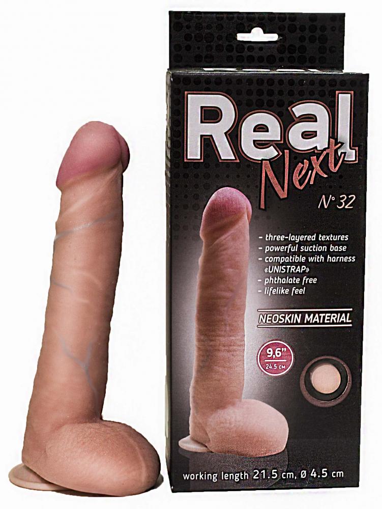 """Фаллоимитатор на присоске 9'6"""" REAL Next №32"""
