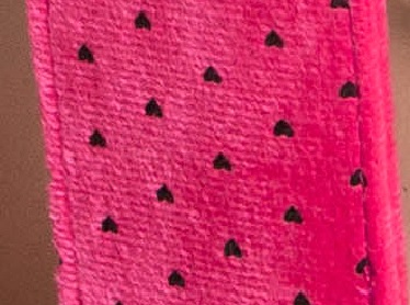 Пэдл розовый в черные сердечки