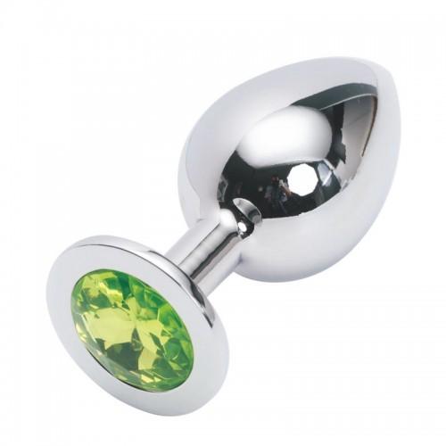 Анальная пробка Anal Plug Silver Green L