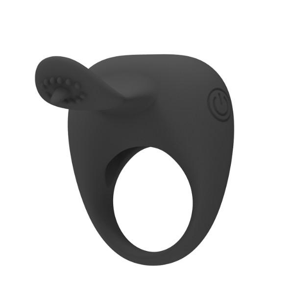 Вибро-кольцо с клиторальным стимулятором Pretty Love Stimulating Tonguo
