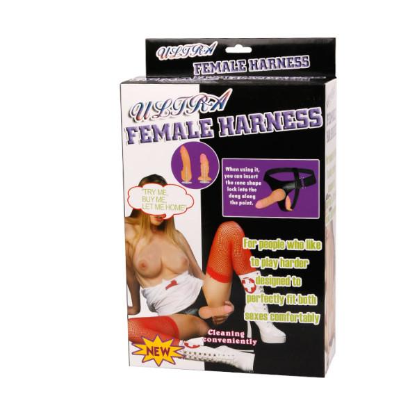 Страпон с двумя насадками Ultra Female Harness