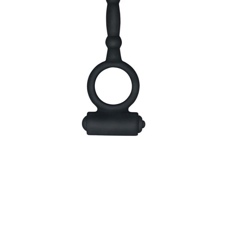 Анальная пробка с двойной вибрацией и кольцом на пенис Ass-Kicker Vibrating Plug Combo
