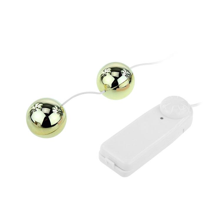 Вагинальные шарики Golden Balls с вибрацией