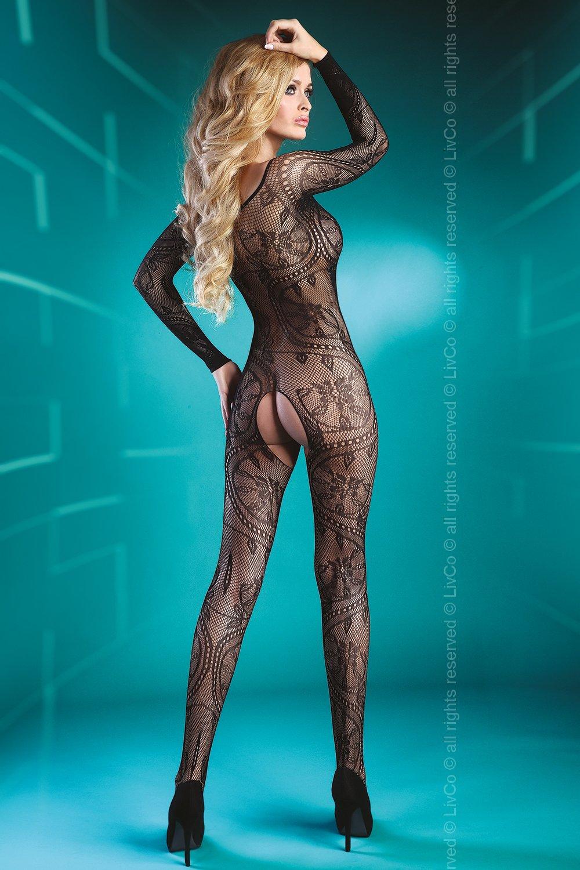 Сексуальный боди-комбинезон ABRA BLACK XL/XXL
