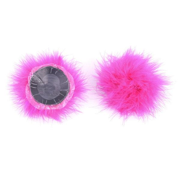 Розовые пэстисы для груди с пушком