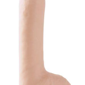 """Фаллоимитатор с мошонкой на присоске Basix Rubber Works 8"""" Suction Cup Dong Flesh"""