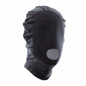 Блестящая маска для головы черная