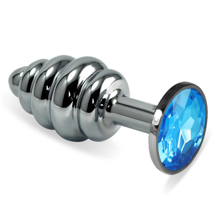 Анальная пробка Rosebud Classic S(Silver) голубая