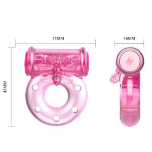 Эрекционное вибро-кольцо розовое