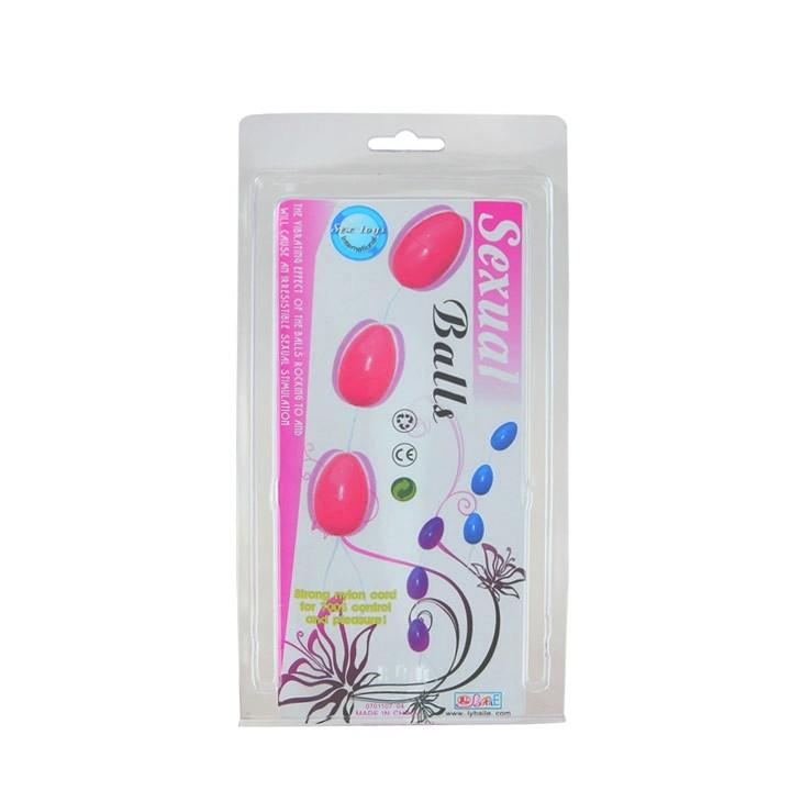 Анально-вагинальные шарики на веревке розовые