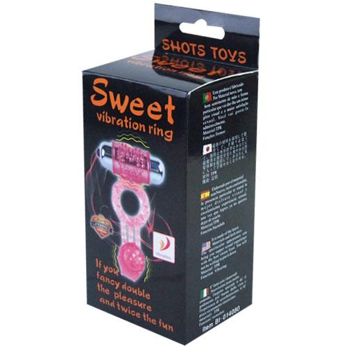Эрекционное кольцо с двойной вибрацией Sweet