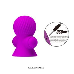 Вакуумные помпы для сосков с вибрацией пурпурного цвета