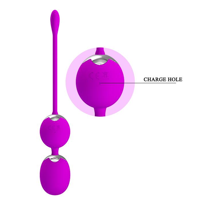 Вагинальные шарики с вибрацией на сцепке Willie с дистанционым пультом