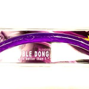Фаллоимитатор двухголовый фиолетовый