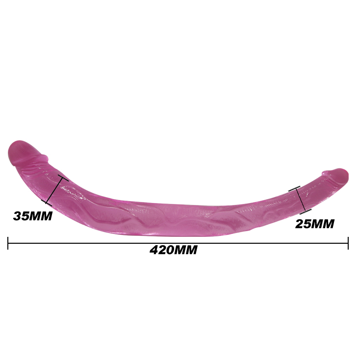 Розовый двухголовый фаллоимитатор
