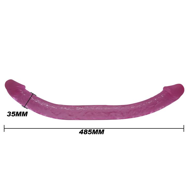 Двухголовый фаллоимитатор pink