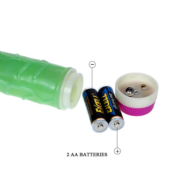 Зелёный вибратор-реалистик