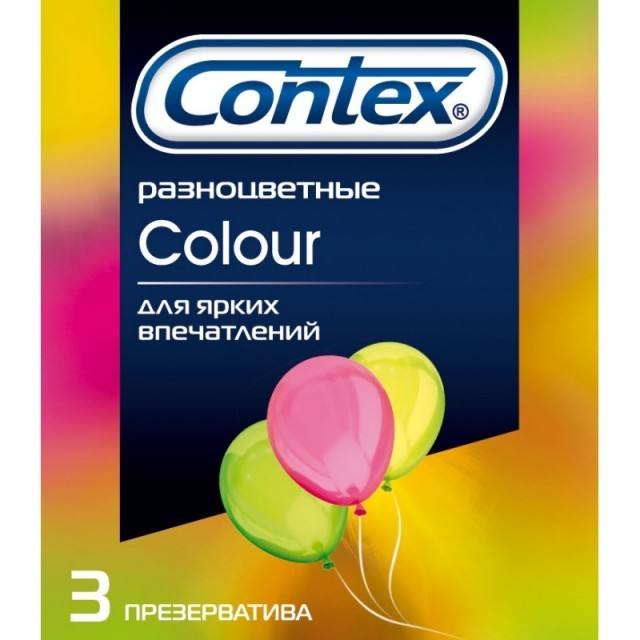Презервативы Contex №3 Colour разноцветные