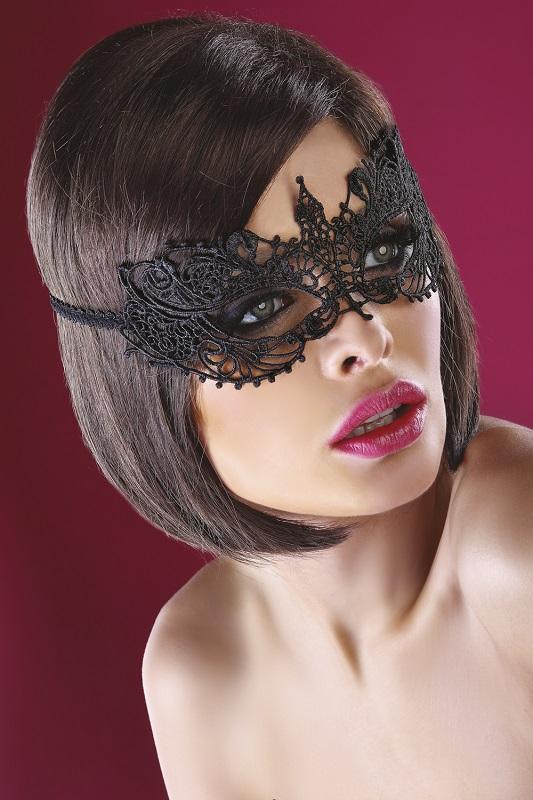 Черная кружевная маска MASK MODEL 12