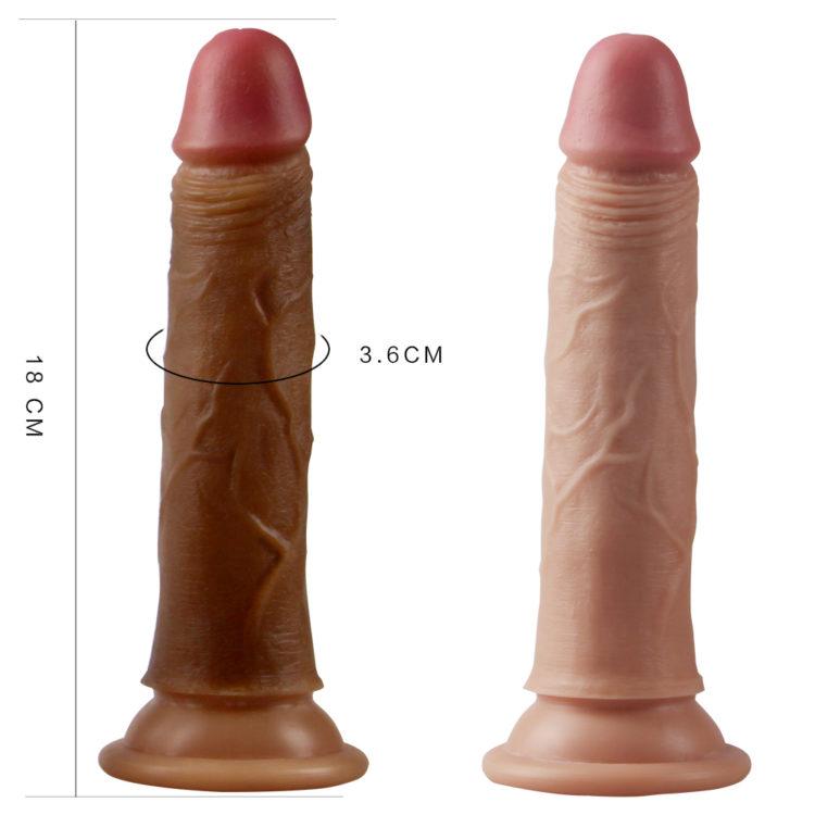 """Фаллос на присоске 7"""" Dual-Layered Silicone Cock"""