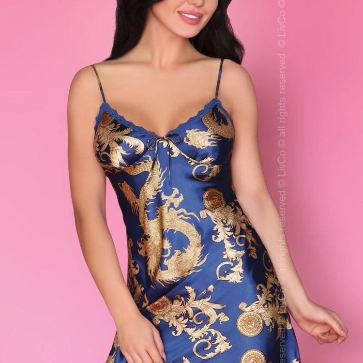 Соблазнительная сорочка DRAGANA MONACO BLUE XL