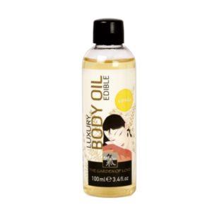 Съедобное масло для тела с ароматом Ванили