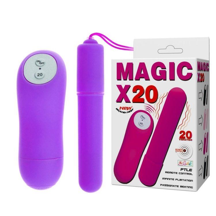 Беспроводной вибростимулятор фиолетовый Magic X20