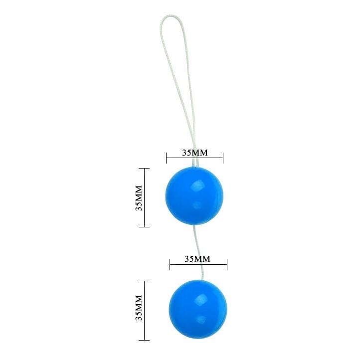 Анально-вагинальные шарики Twins Ball голубые