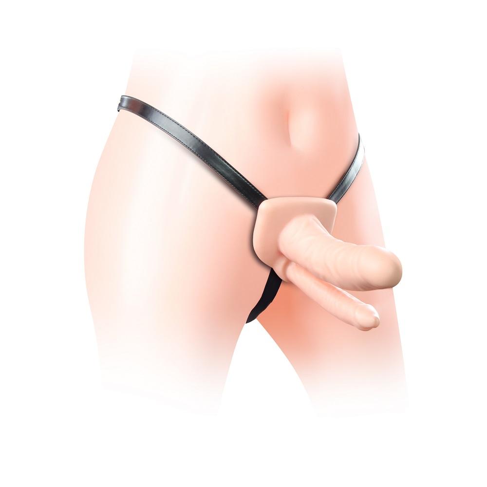 Страпон полый для двойного проникновения Unisex Hollow Double Penetrator
