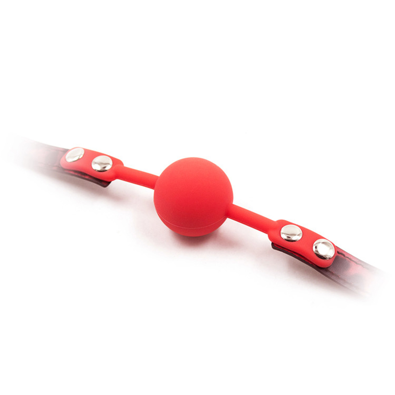 Силиконовый кляп черно-красный