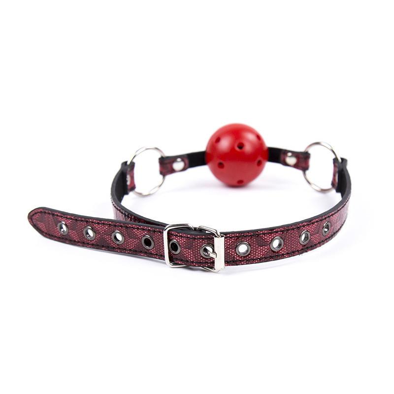 Кляп-шар black-red БДСМ