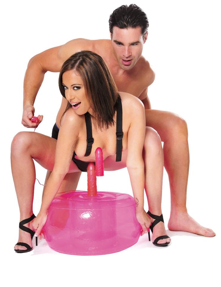 Надувное сидение с насадкой и вибрацией FFS Inflatable Pink Hot Seat