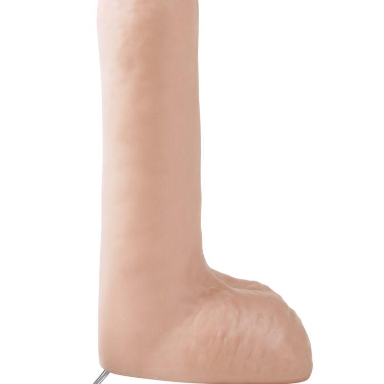 """Вибратор с мошонкой Basix Rubber Works 8"""" Vibrating Dong"""