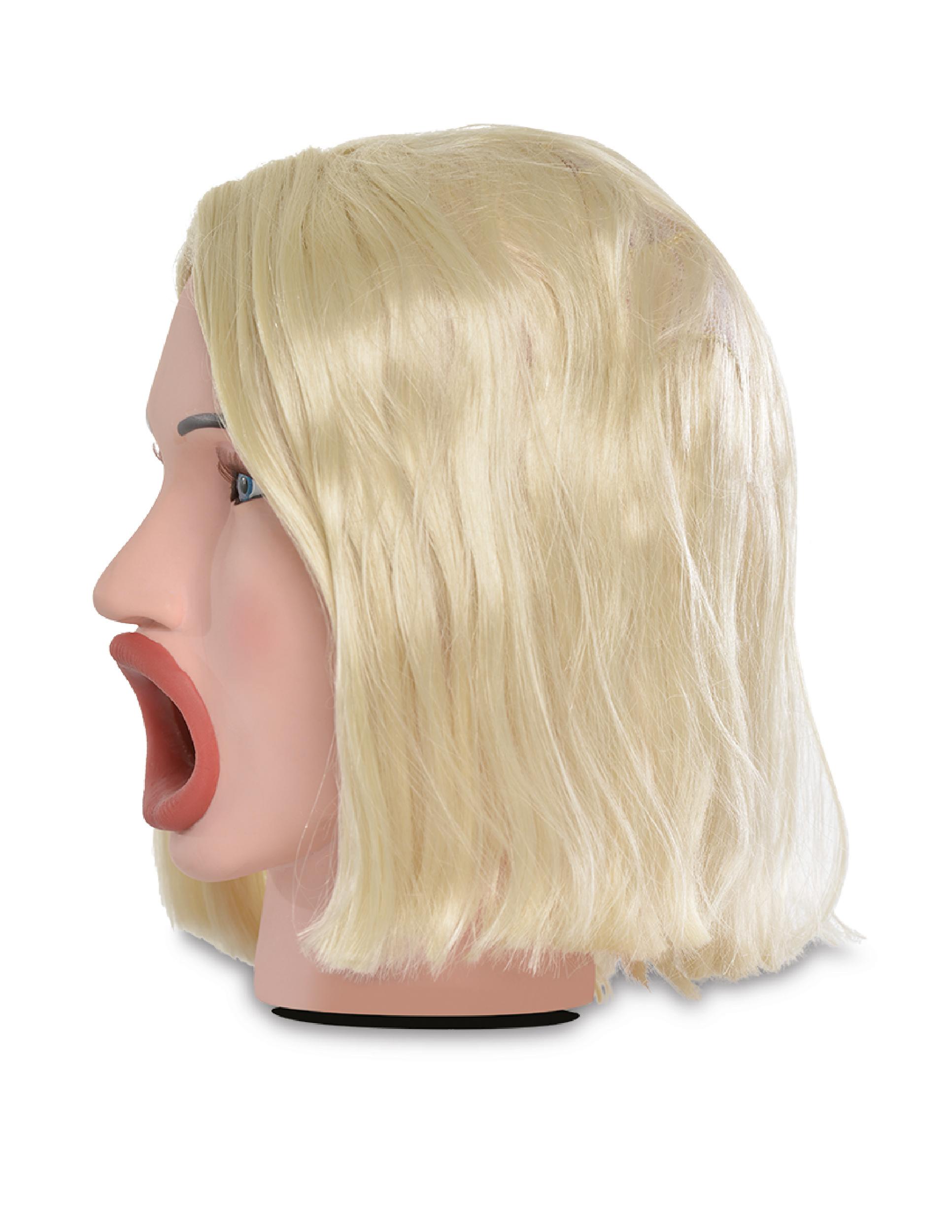 Мастурбатор-голова Hot Water Face Fucker! Blonde
