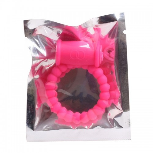 Эрекционное кольцо с вибрацией розовое