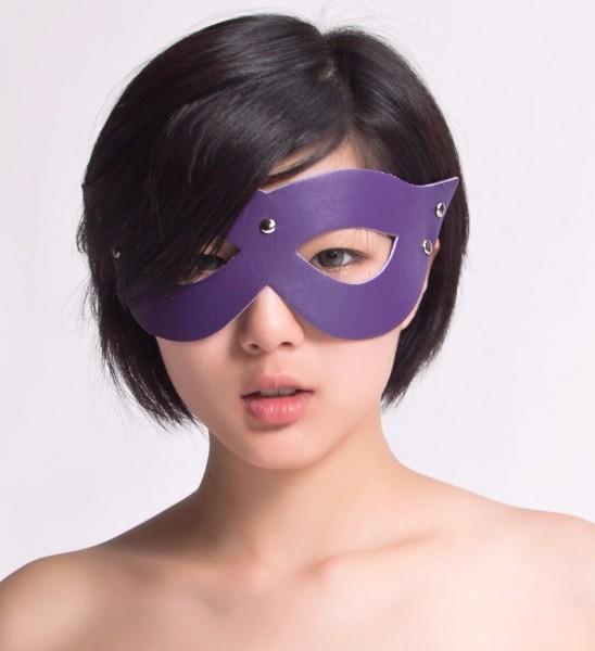 БДСМ маска фиолетовая