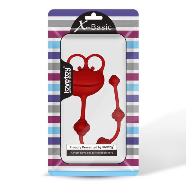 Анальная цепочка красная Silicone Frog Anal Beads-Red