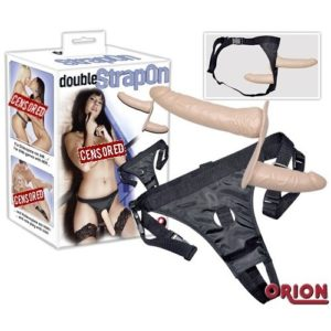 Страпон с двумя насадками Double Dong Strap-On